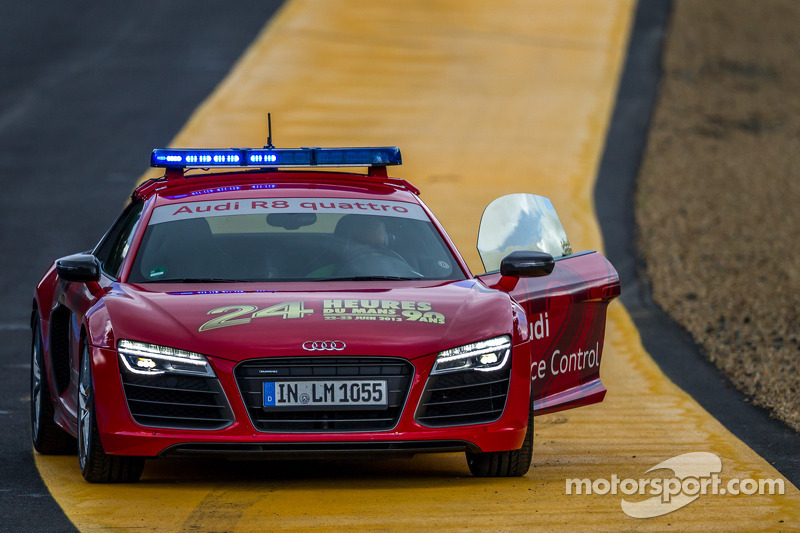 Audi R8 safety car in Indianapolis voor de sessie start