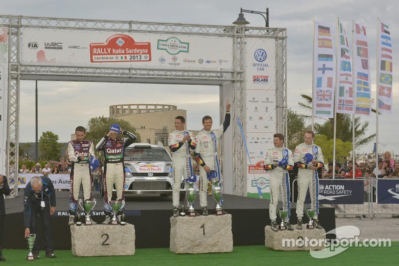 1er Sébastien Ogier and Julien Ingrassia, Volkswagen Polo WRC, Volkswagen Motorsport, 2e Thierry Neuville and Nicolas Gilsoul, Ford Fiesta WRC, Qatar M-Sport WRT, 3e Jari-Matti Latvala and Miikka Anttila, Volkswagen Polo WRC, Volksw