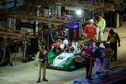 Pit stop for #41 Greaves Motorsport Caterham Motorsport Nissan: Alexander Rossi, Eric Lux, Tom Kimbe