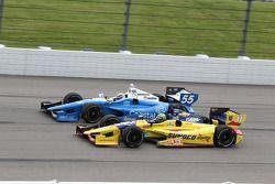 Tristan Vautier, Schmidt Peterson Motorsport Honda et Tony Kanaan, KV Racing Technology Chevrolet
