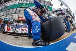 Les mécaniciens Toyota Racing
