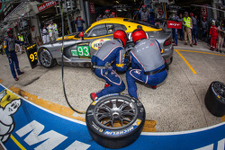 Pit stop for #93 SRT Motorsports Viper SRT GTS-R: Jonathan Bomarito, Tommy Kendall, Kuno Wittmer