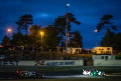 #92 Porsche AG Team Manthey Porsche 991 RSR: Marc Lieb, Richard Lietz, Romain Dumas, #1 Audi Sport T