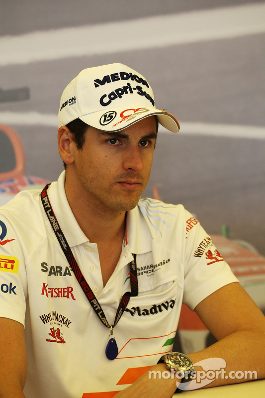 Adrian Sutil, Sahara Force India F1, no TW Steel media call.