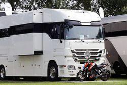 motorhome, Sebastian Vettel, Red Bull Racing, BRDC Farm.