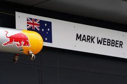 Sign for Mark Webber, Red Bull Racing.