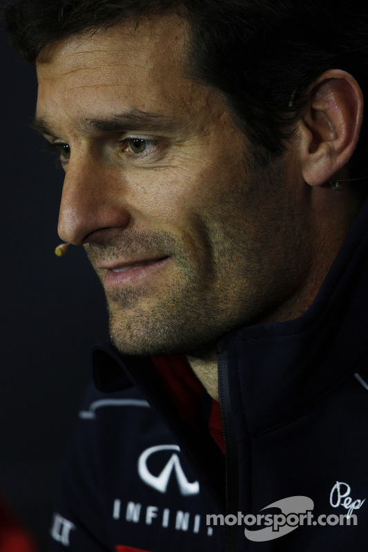 Mark Webber, Red Bull Racing na coletiva da FIA.