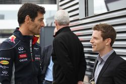 Mark Webber, Red Bull Racing with Anthony Davidson (GBR).