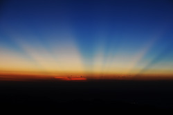 Lever du soleil sur Pikes Peak