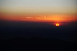 Le soleil se lève sur Pikes Peak