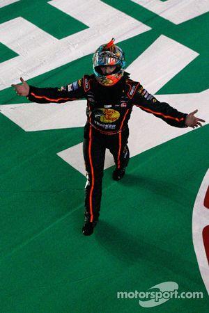 Race winner Ty Dillon celebrates