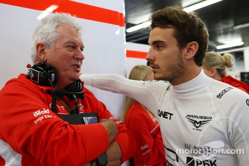 Pat Symonds, Marussia F1 Team Technical Danışmanı ve Jules Bianchi, Marussia F1 Team