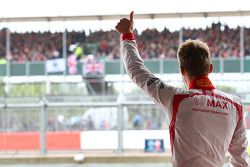 Max Chilton, Marussia F1 Team waves to fans