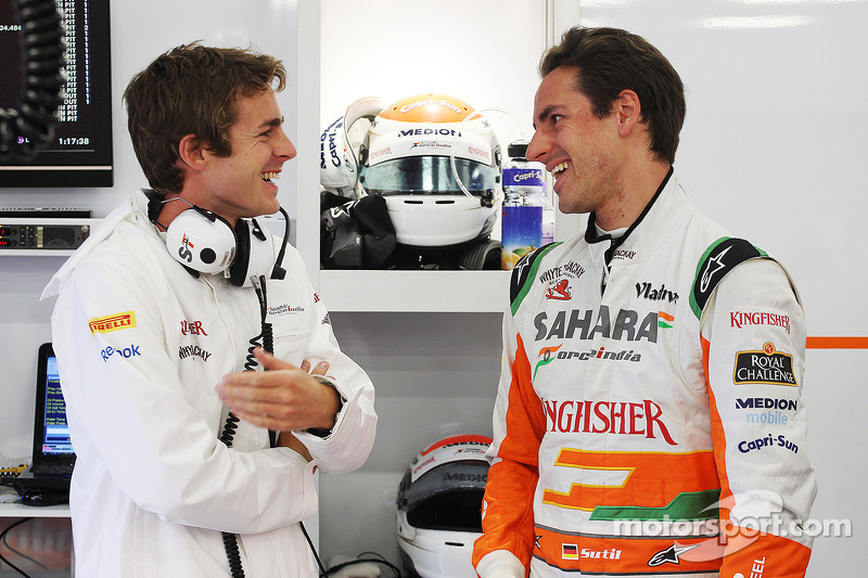 James Rossiter, Sahara Force India F1 Simulator Driver with Bradley Joyce, Sahara Force India F1 Race Engineer