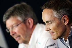 Martin Whitmarsh, McLaren Chief Executive Officer and Ross Brawn, Mercedes AMG F1 Team Principal in