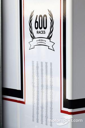 Williams celebra 600 GPs