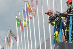 1. Valentino Rossi, Yamaha Factory Racing; 3. Cal Crutchlow, Yamaha Tech 3
