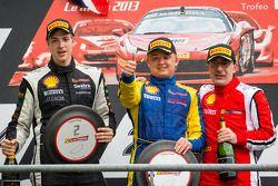 Podium: racewinnaar Sergey Chukanov, 2e plaats Alexander Martin, 3e plaats Benedetto Marti