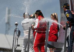 Fernando Alonso, Scuderia Ferrari, Nico Rosberg, Mercedes GP en Mark Webber, Red Bull Racing