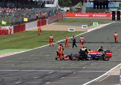 Sebastian Vettel, Red Bull Racing stopped, track