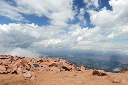 Amável vista do topo da Montanha