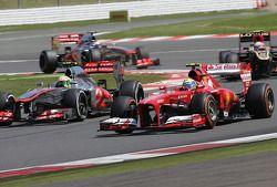 Sergio Perez, McLaren Mercedes ve Felipe Massa, Scuderia Ferrari