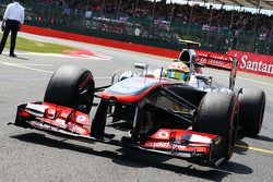Sergio Perez McLaren MP4-28 gridde