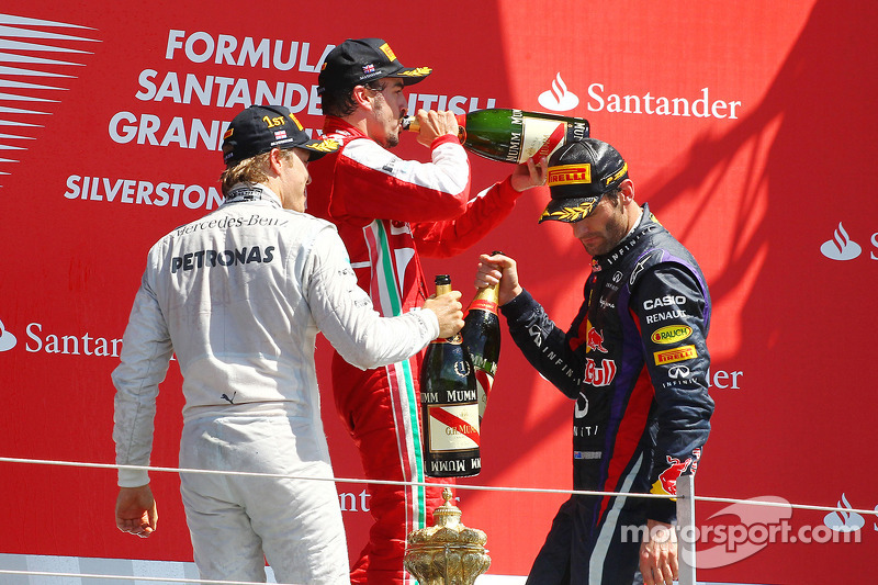 2013. Подіум: 1. Ніко Росберг, Mercedes. 2. Марк Веббер,  Red Bull - Renault. 2. Фернандо Алонсо, Ferrari