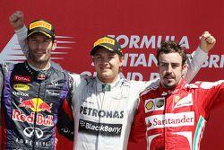 Podium: 1. Nico Rosberg, 2. Mark Webber, 3. Fernando Alonso