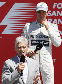 Nico Rosberg (Mercedes AMG F1) et Damon Hill