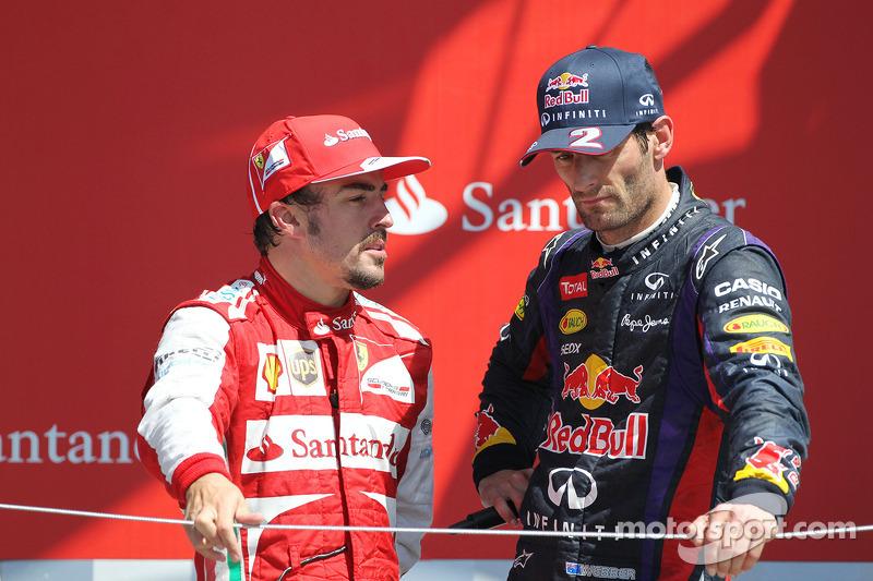 Fernando Alonso con su amigo Mark Webber