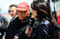 Niki Lauda Mercedes Non-Executive Chairman on the grid