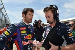Mark Webber Red Bull Racing on the grid