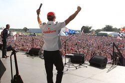 Jenson Button McLaren at the post race concert