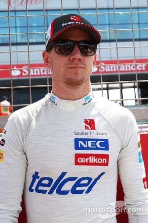 Nico Hulkenberg Sauber on the grid