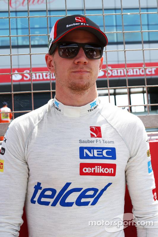 Nico Hulkenberg Sauber no grid