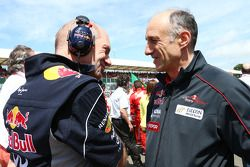 Adrian Newey Red Bull Racing Chief Technical Officer with Franz Tost Scuderia Toro Rosso Team Princi