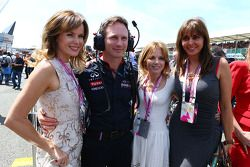 Christian Horner Red Bull Racing Team Principal with Amanda Holden, Geri Halliwell Singer and Carol