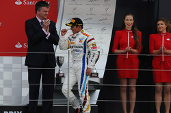 Podium race 2: second place Rio Haryanto