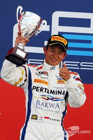 Podium race 2: second place Rio Haryanto