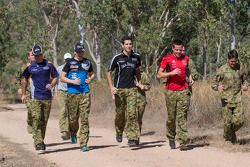 Tim Slade, Mark Winterbottom, Rick Kelly et James Courtney