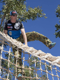 Mark Winterbottom is put through his paces at an army obstacle course