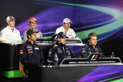The FIA Press Conference: Nico Hulkenberg, Sauber; Sergio Perez, McLaren; Adrian Sutil, Sahara Force