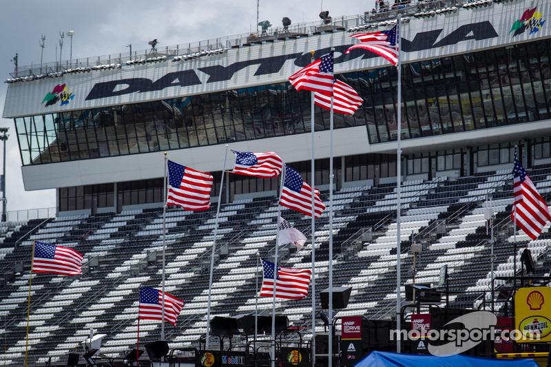 Amerikaanse vlag op de Daytona International Speedway