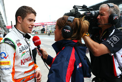 Paul di Resta, Sahara Force India F1 with Natalie Pinkham, Sky Sports Presenter