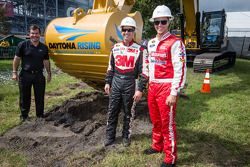 Daytona Rising event: winnaars Trevor Bayne, Wood Brothers Racing Ford en Greg Biffle, Roush Fenway