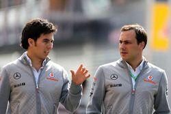 Sergio Pérez, McLaren Mercedes et Gary Paffett, McLaren Mercedes