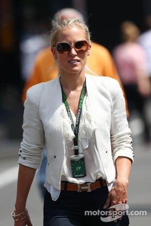 Jennifer Becks, girlfriend of Adrian Sutil, Sahara Force India F1