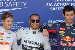 Sebastian Vettel, Red Bull Racing, Lewis Hamilton, Mercedes Grand Prix and Mark Webber, Red Bull Rac