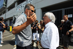 (L to R): Dr Mario Theissen, BMW with Bernie Ecclestone, CEO Formula One Group